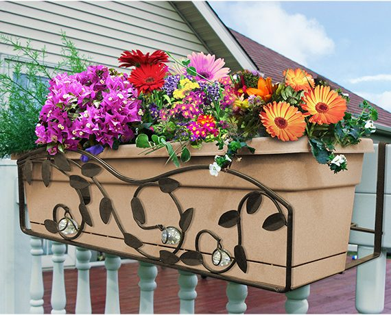 Rectangular Decorated Flower Box Holder